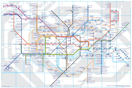 2013 London tube map