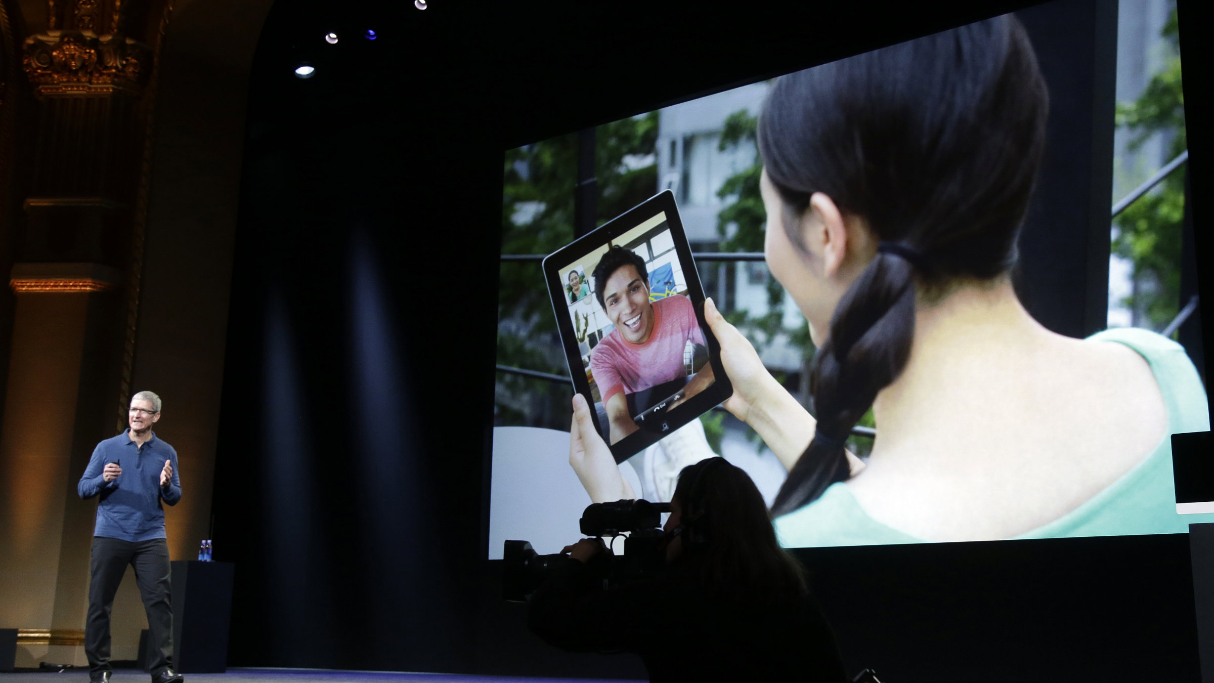 Apple CEO Tim Cook is just fine with sales of the iPad Mini cutting into other products.