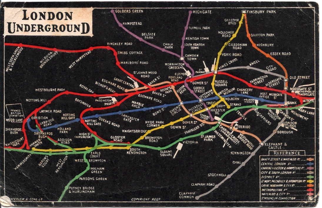 Other 1908 London tube map