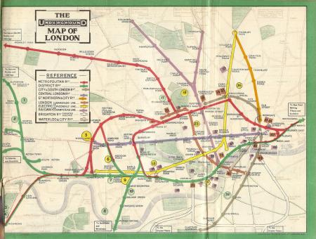 1911 London tube map