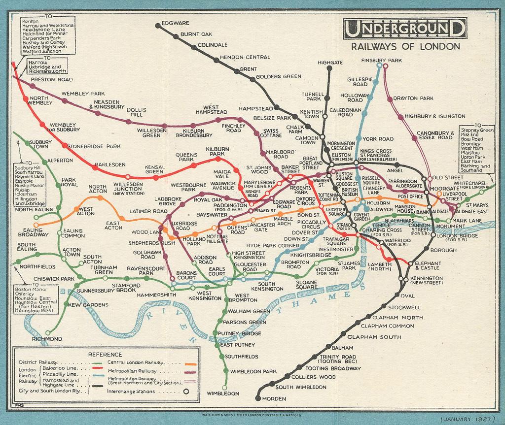 1927 london tube map