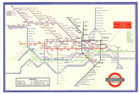1937 London tube map