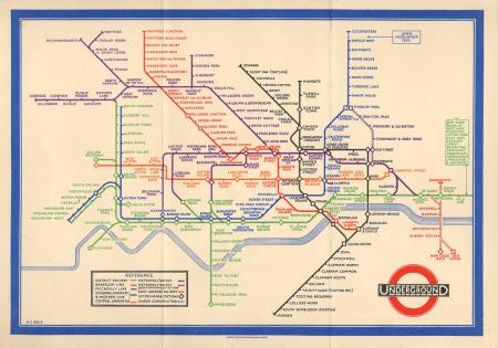 1933 London tube map