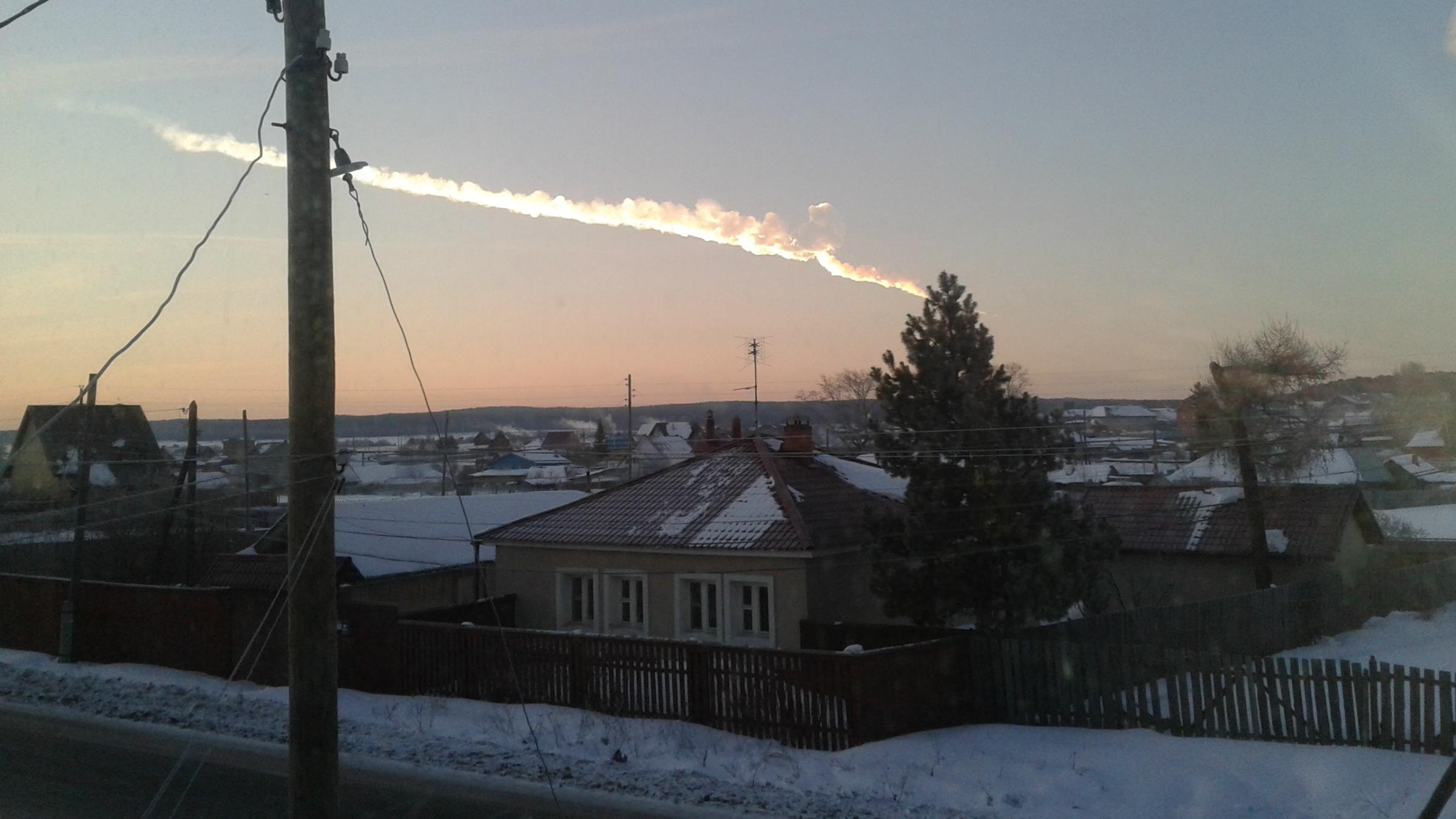 A meteor strike in Russia.