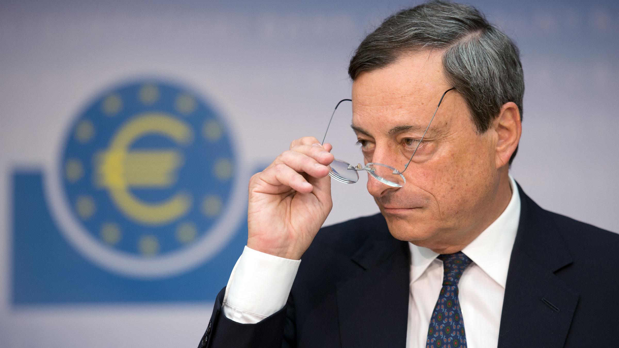 ECB European Central Bank President Mario Draghi