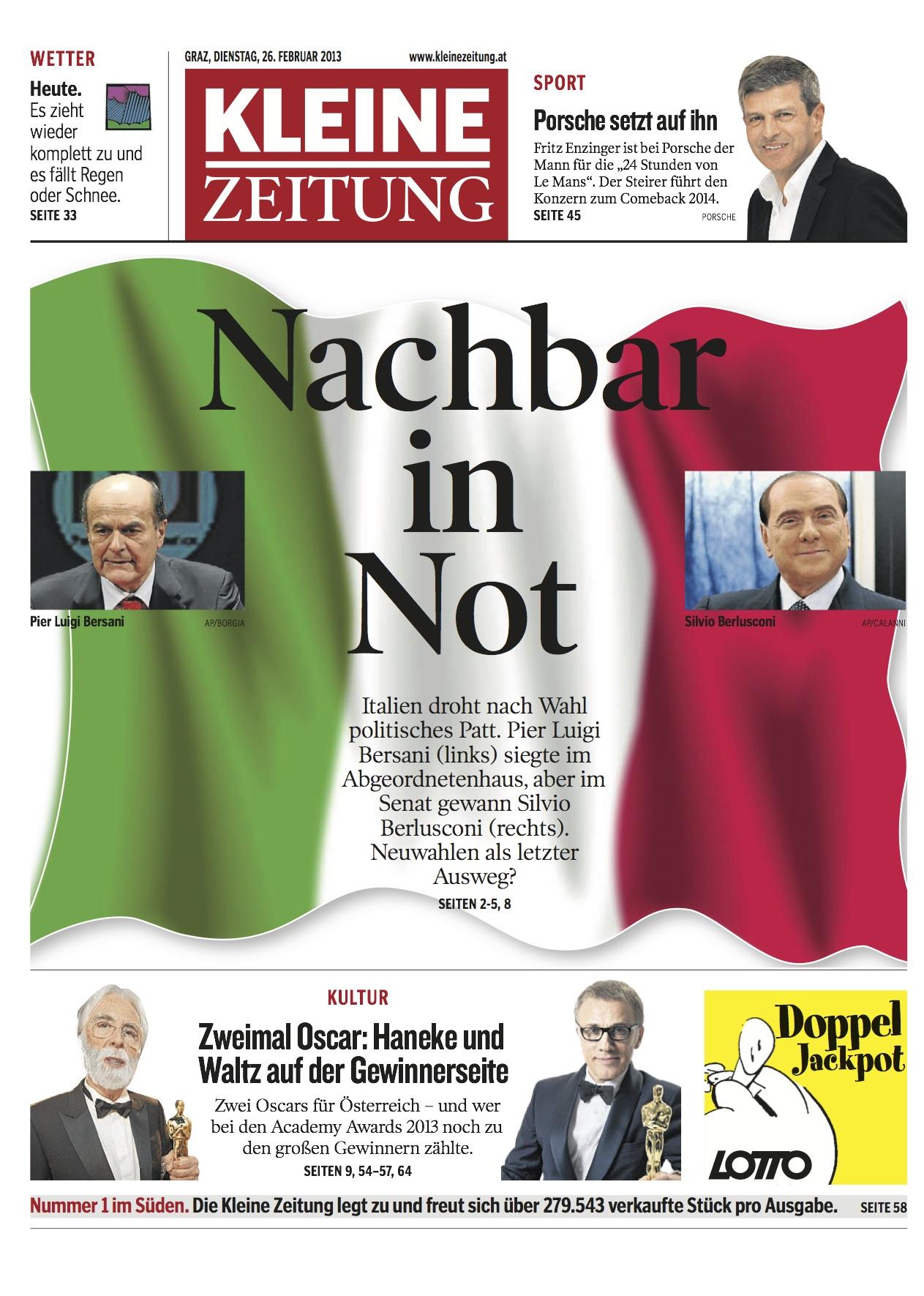 Kleine Zeitung headline