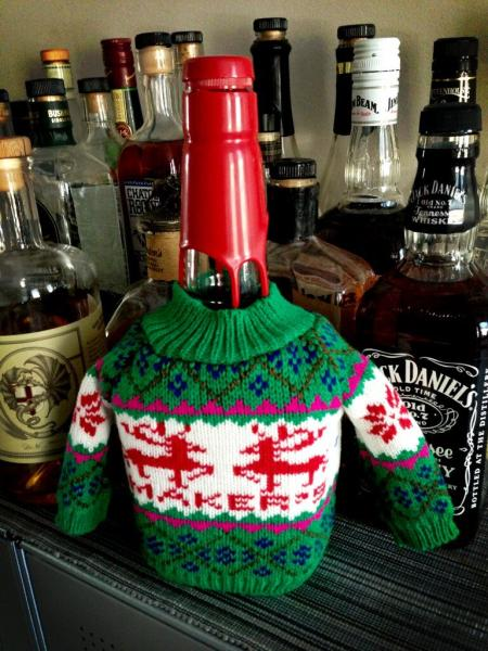 Maker's Mark in a sweater