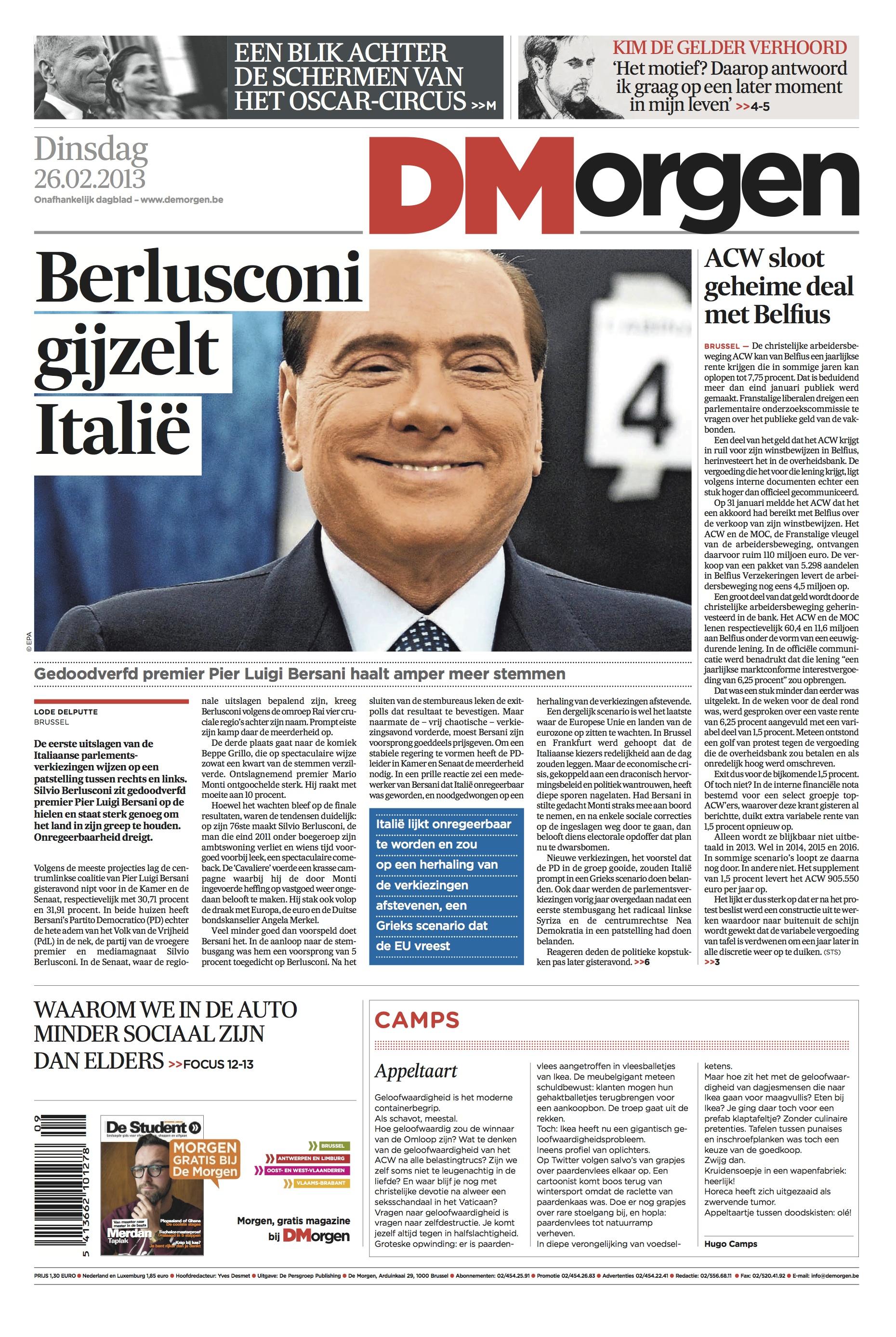 De Morgen Berlusconi