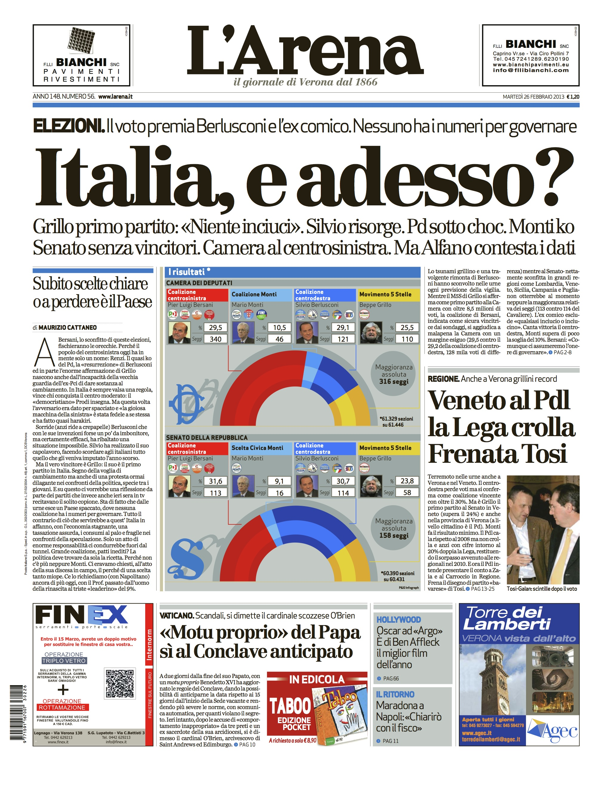 L'arena Italy elections