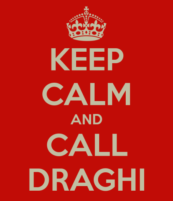 keep calm and call draghi