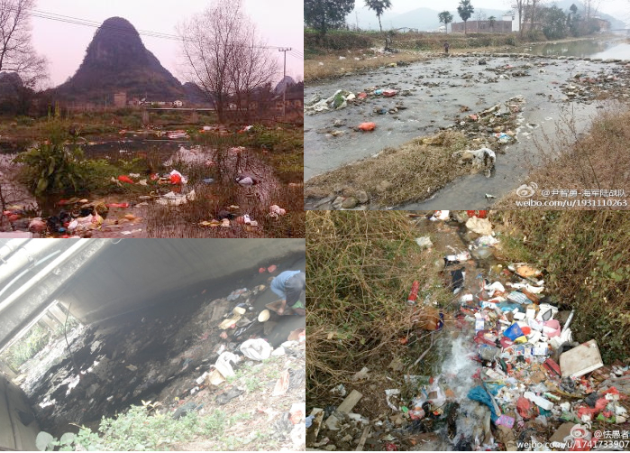 china polluted river