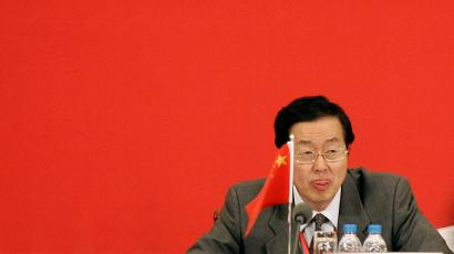 Zhou Xiaochuan, governor of the People's Bank of China, reacts at the closing ceremony of the African Development Bank Group's annual meetings Thursday, May 17, 2007 in Shanghai, China. (AP Photo/Eugene Hoshiko)