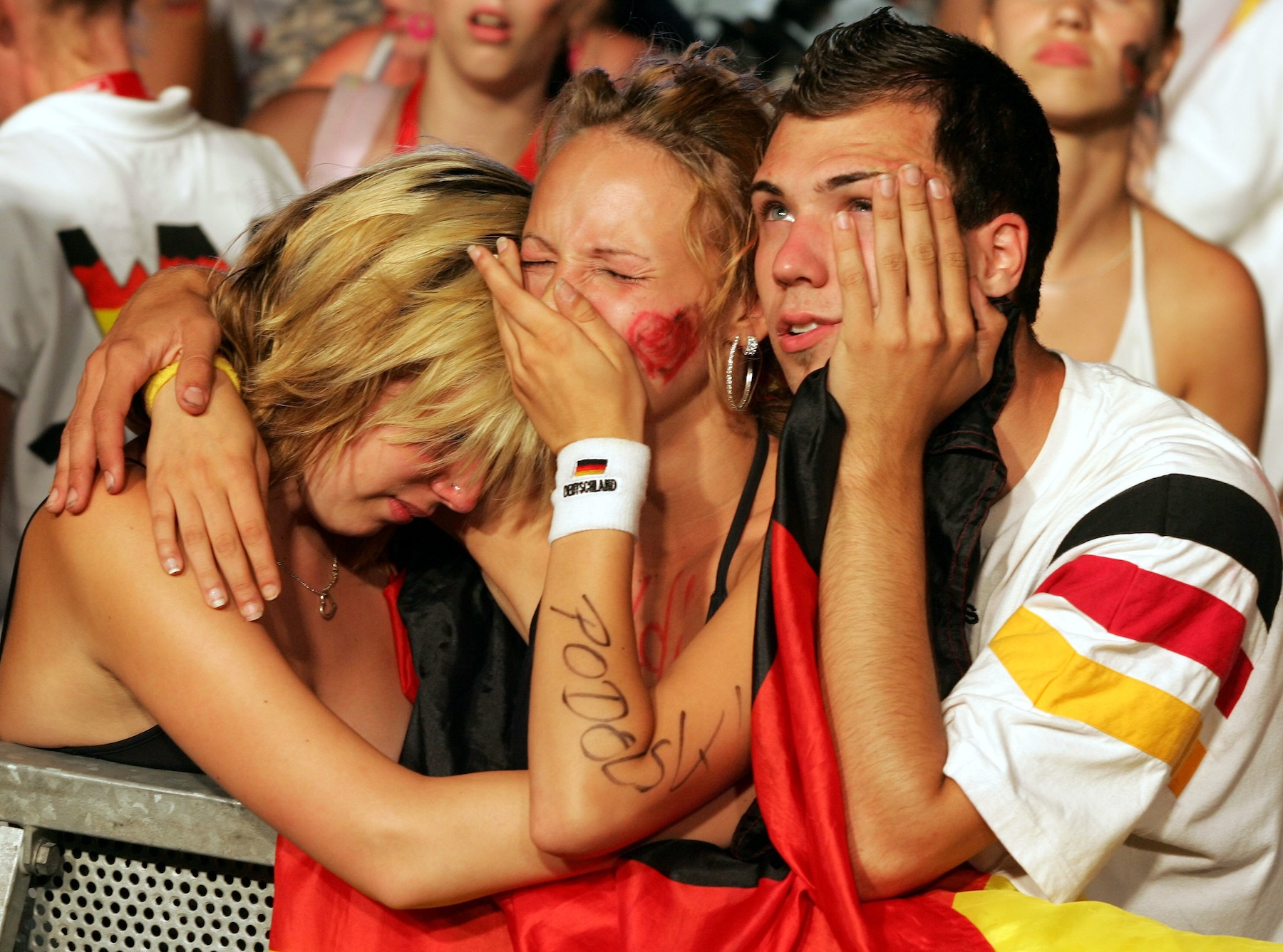German fans after their team lost to Italy in the 2006 World Cup