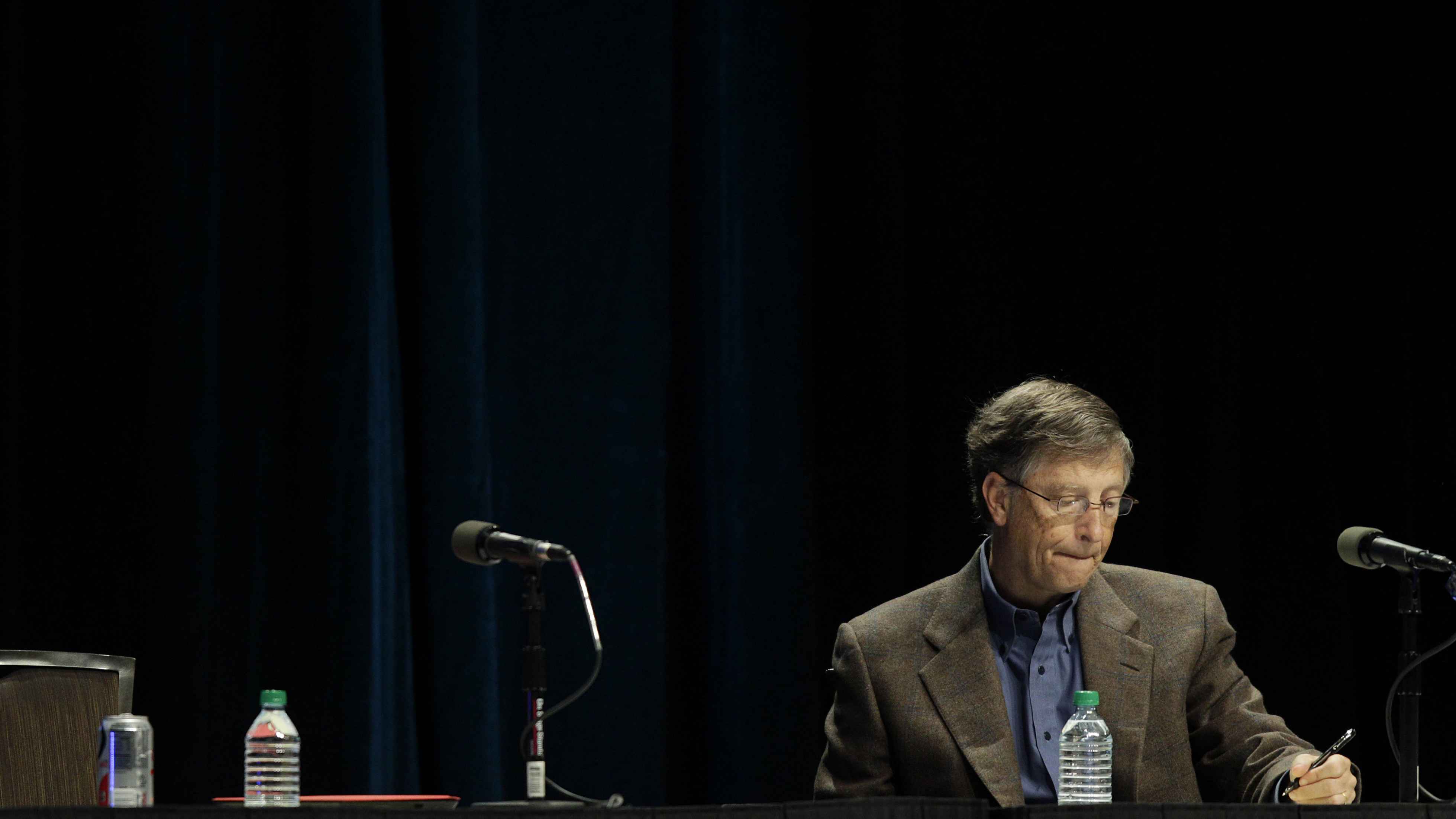 Microsoft's Bill Gates takes notes