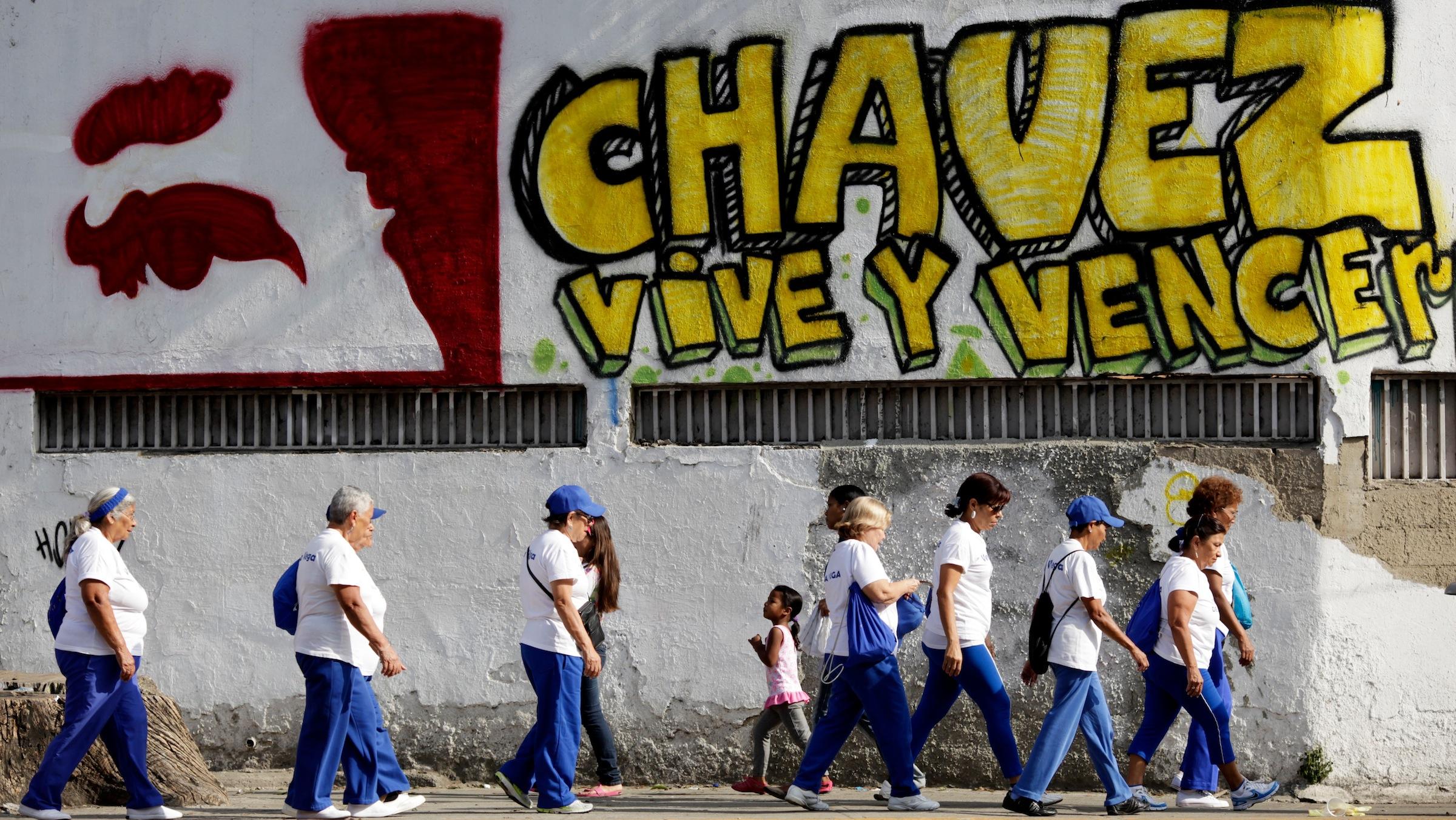 Chávez graffiti in Caracas