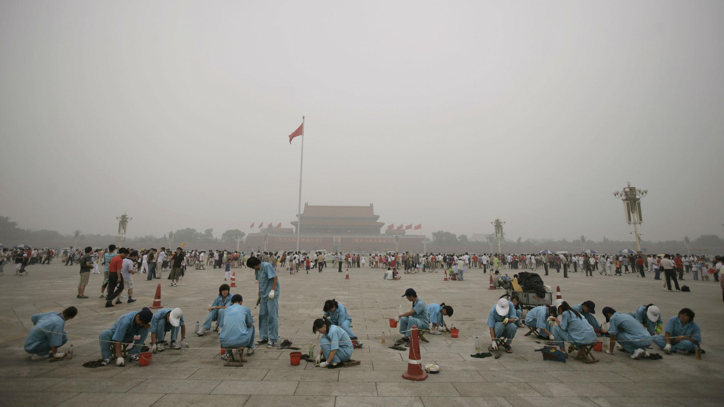 China pollution kids web
