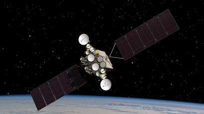 This artist rendering provided by the U.S. Air Force, shows the AEHF-1 satellite in orbit above the earth. Air Force ground controllers executed a delicate rescue to save the $1.7 billion military communications satellite that was stranded in the wrong orbit and at risk of blowing up