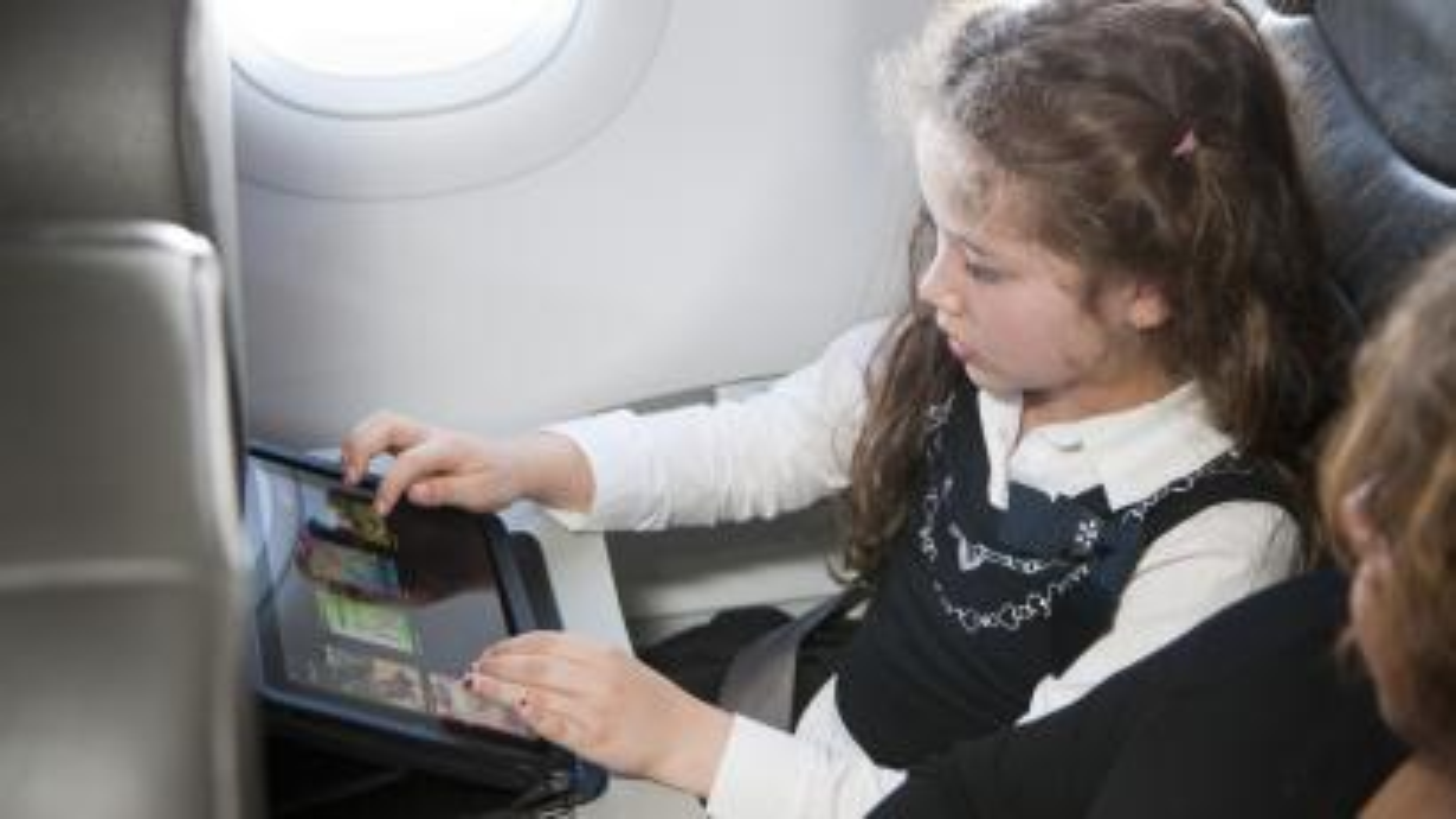 iPads on a plane