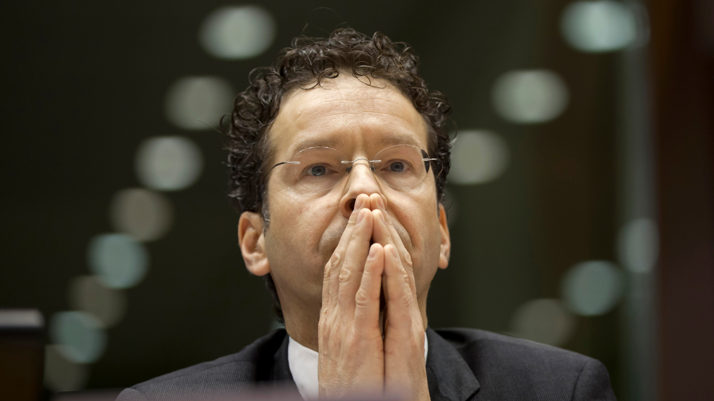 Dutch Finance Minister and leader of the eurogroup Jeroen Dijsselbloem pauses before answering questions during a sitting of the European Parliament in Brussels on Thursday, March 21, 2013. Cypriot officials are trying to find new ways to stave off financial ruin, including asking Russia for help, after its Parliament rejected a plan to contribute to the nation's bailout package by seizing depositors bank savings.