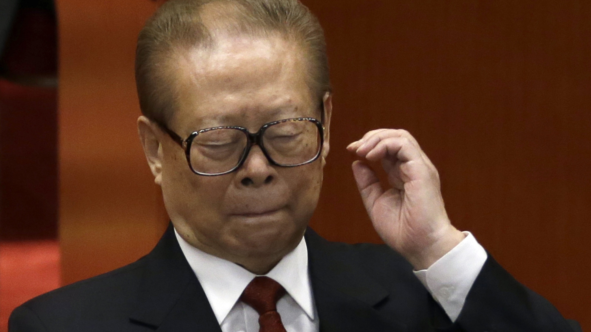 Former Chinese President Jiang Zemin attends the opening session of the 18th Communist Party Congress held at the Great Hall of the People in Beijing, China, Thursday, Nov. 8, 2012. (AP Photo/Ng Han Guan)