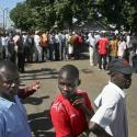 Kenyans line up to vote in one of the primaries leading up to today's election.