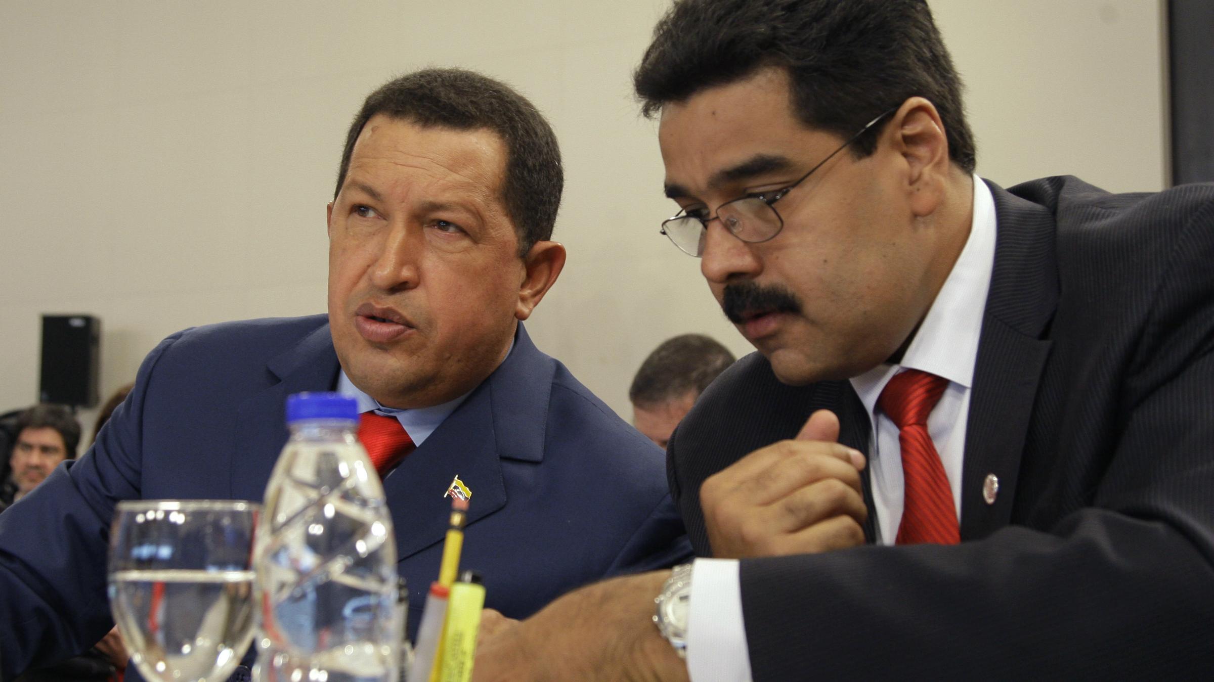 Nicolas Maduro and Hugo Chávez