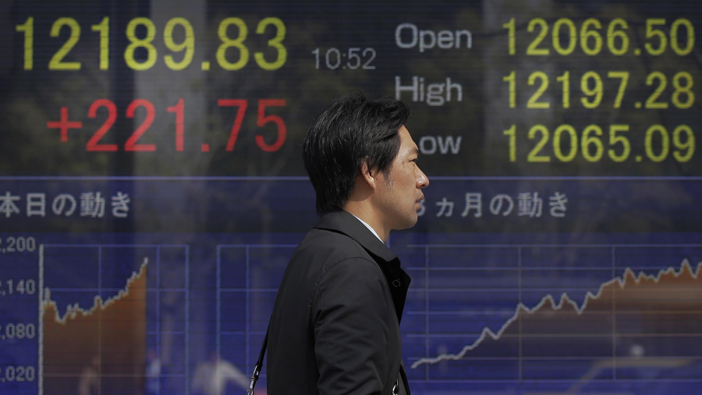 Nikkei Japanese stocks Abenomics Shinzo Abe monetary policy
