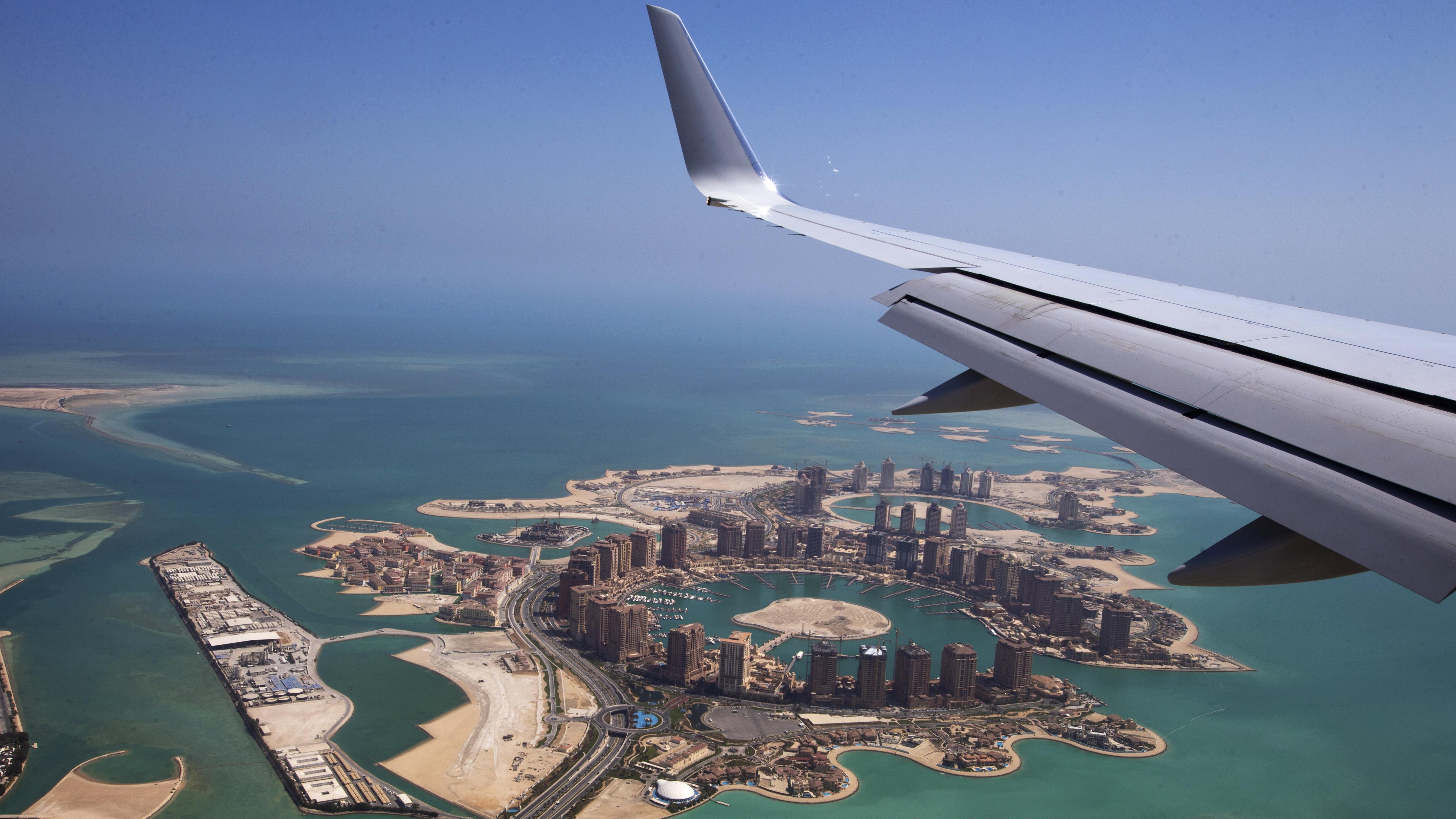 Aerial shot of Doha, Qatar