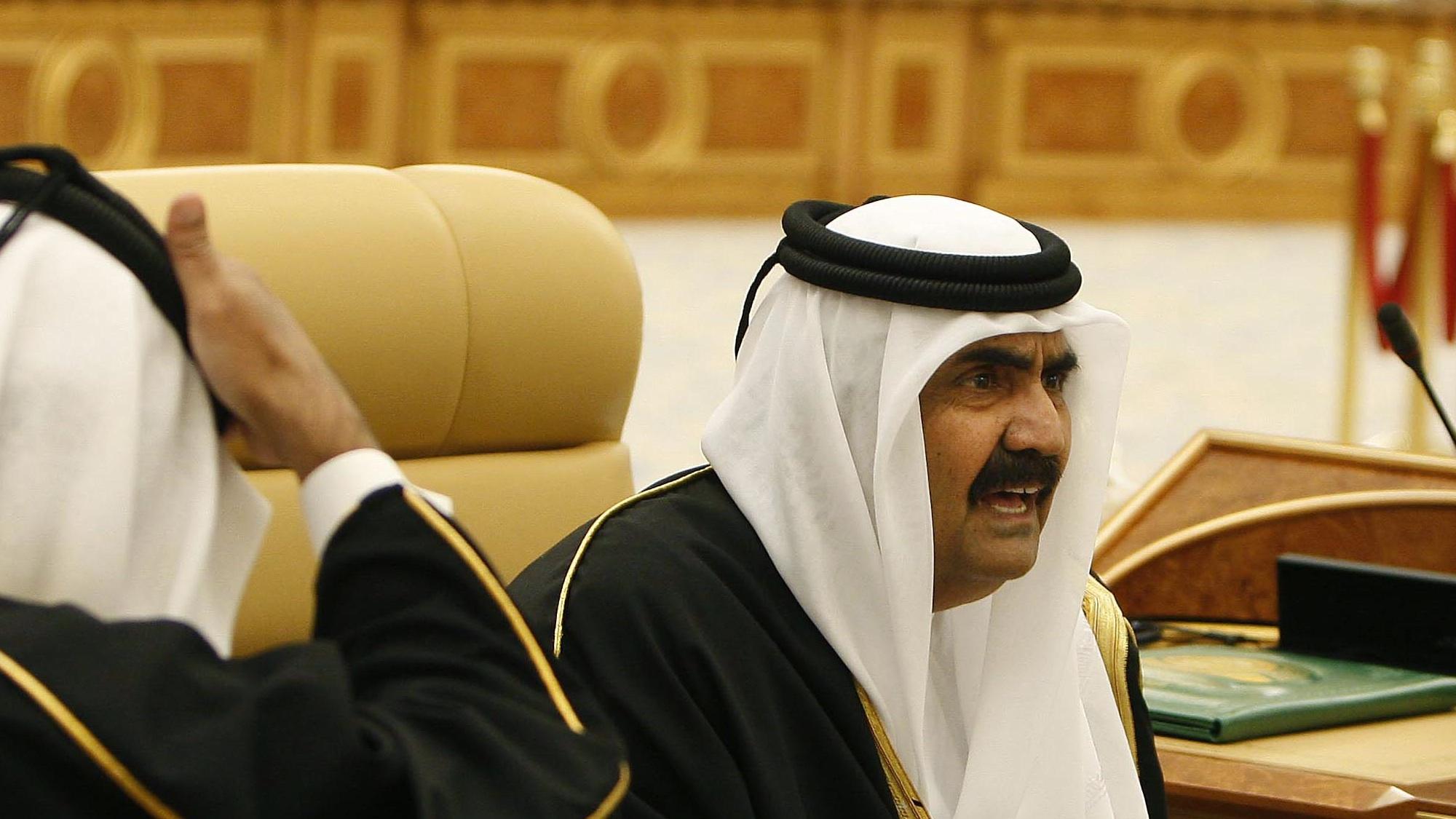 Qatar's Emir Sheikh Hamad bin Khalifa Al Thani