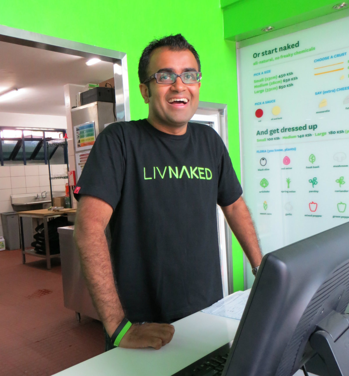 Ritesh Doshi is behind the new Naked Pizza chain in Nairobi.