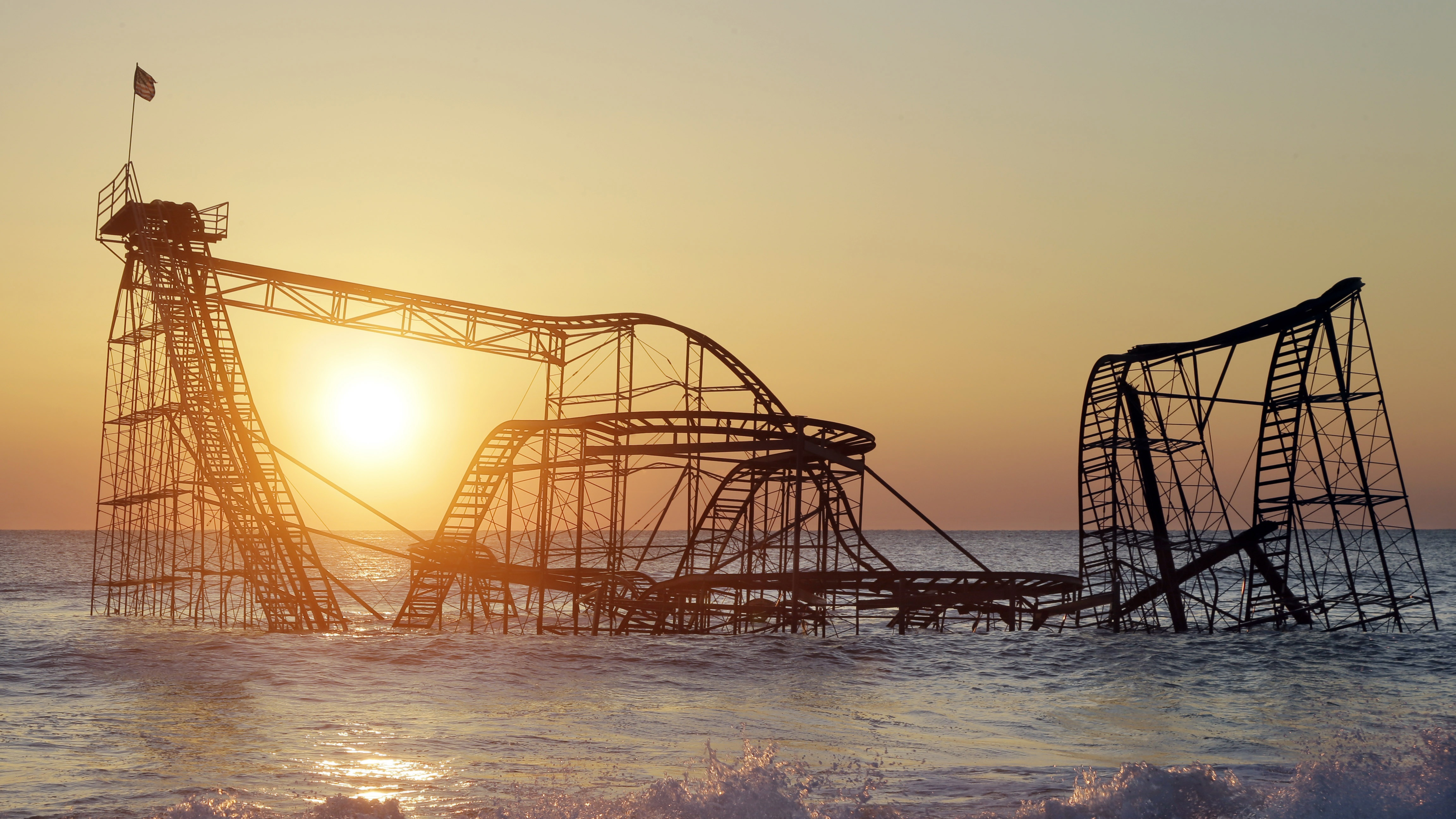 rollercoaster after hurricane sandy