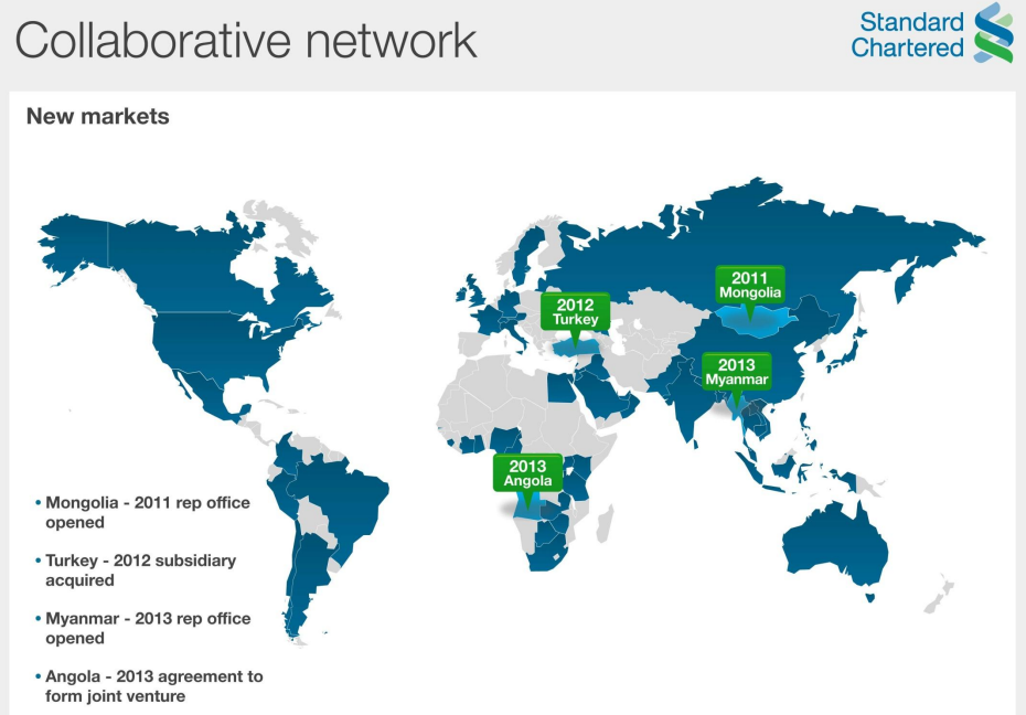 standard chartered global bank map