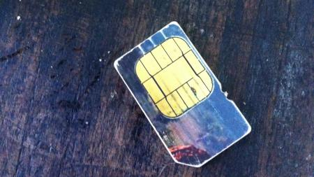 A SIM card bought in 2001 for $3,000