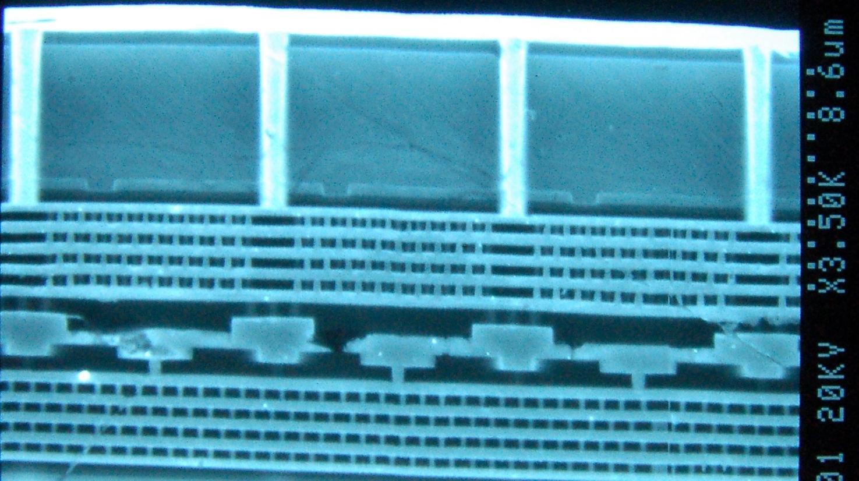 Tezzaron two-layer microchip