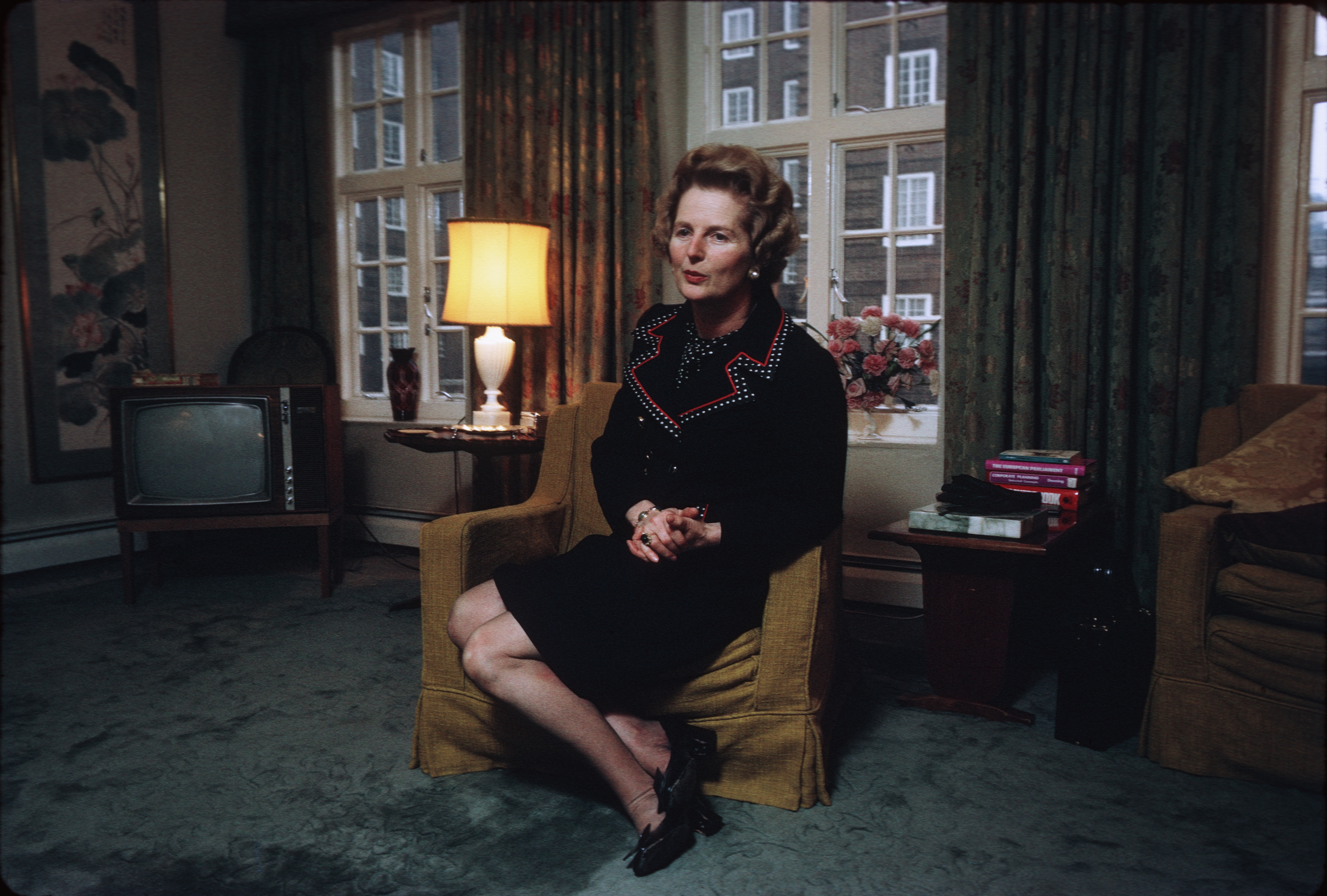 Margaret Thatcher in her London Apartment