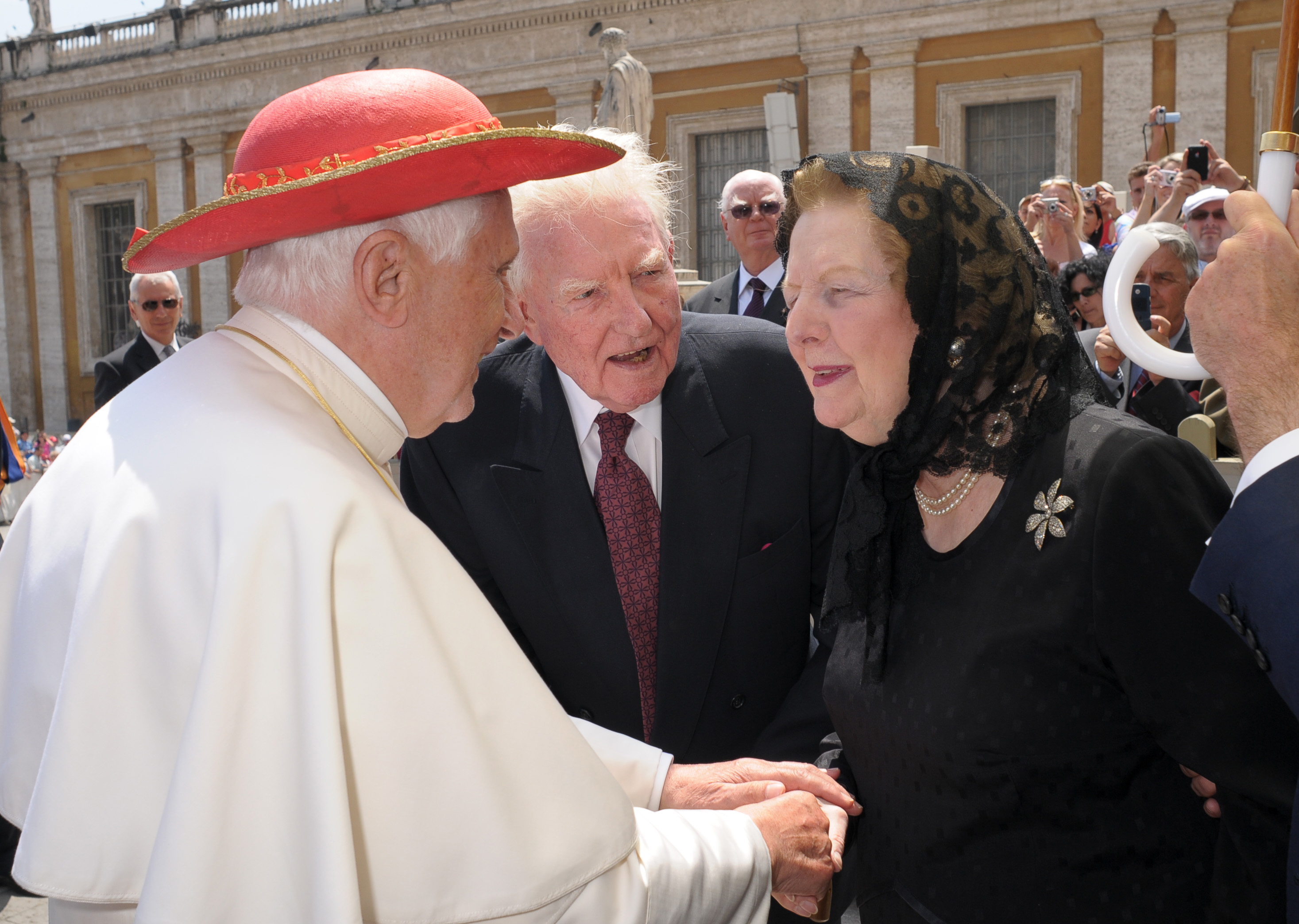 Margaret Thatcher and The Pope