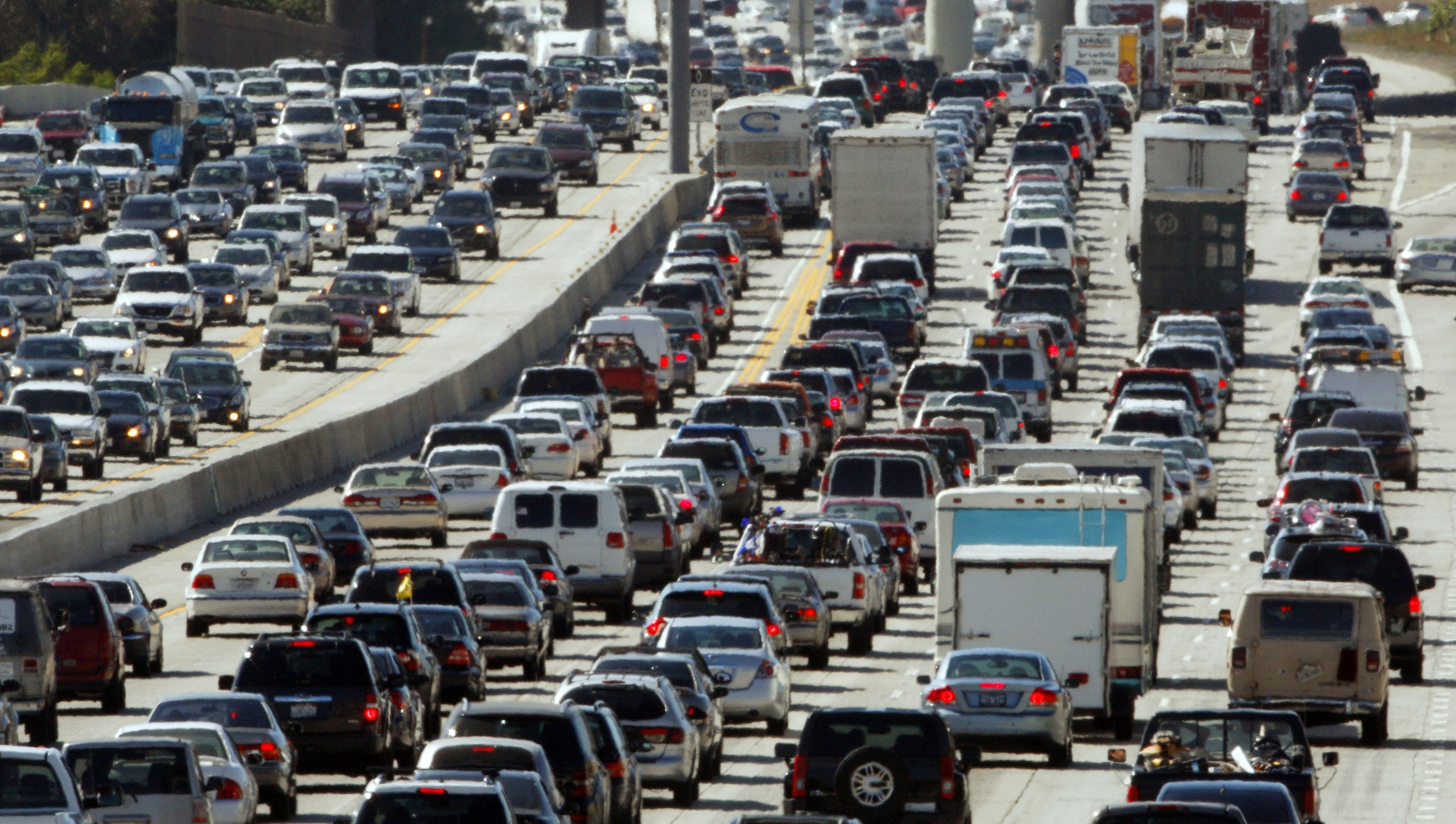 Rush hour on Interstate 405 in Los Angeles.