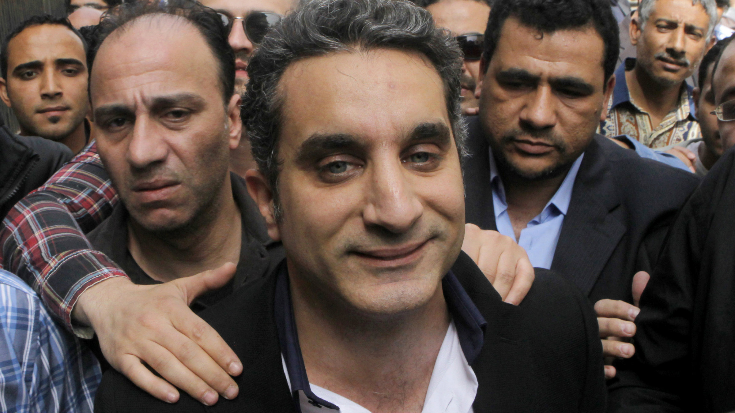 "Egyptian authorities say Bassem Youssef uses ""unacceptable and offensive"" language."