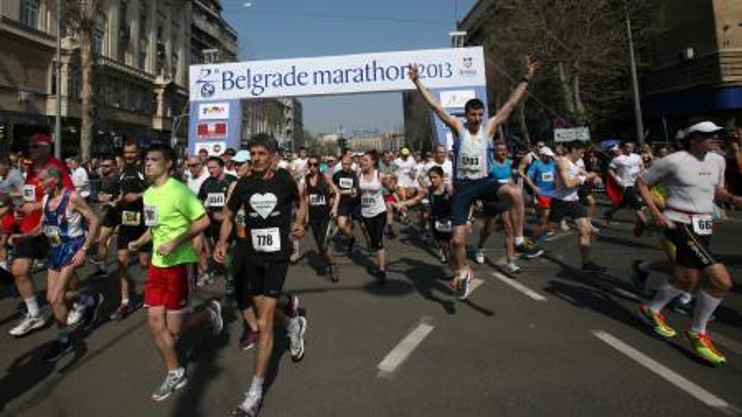 Start of the Belgrade Marathon