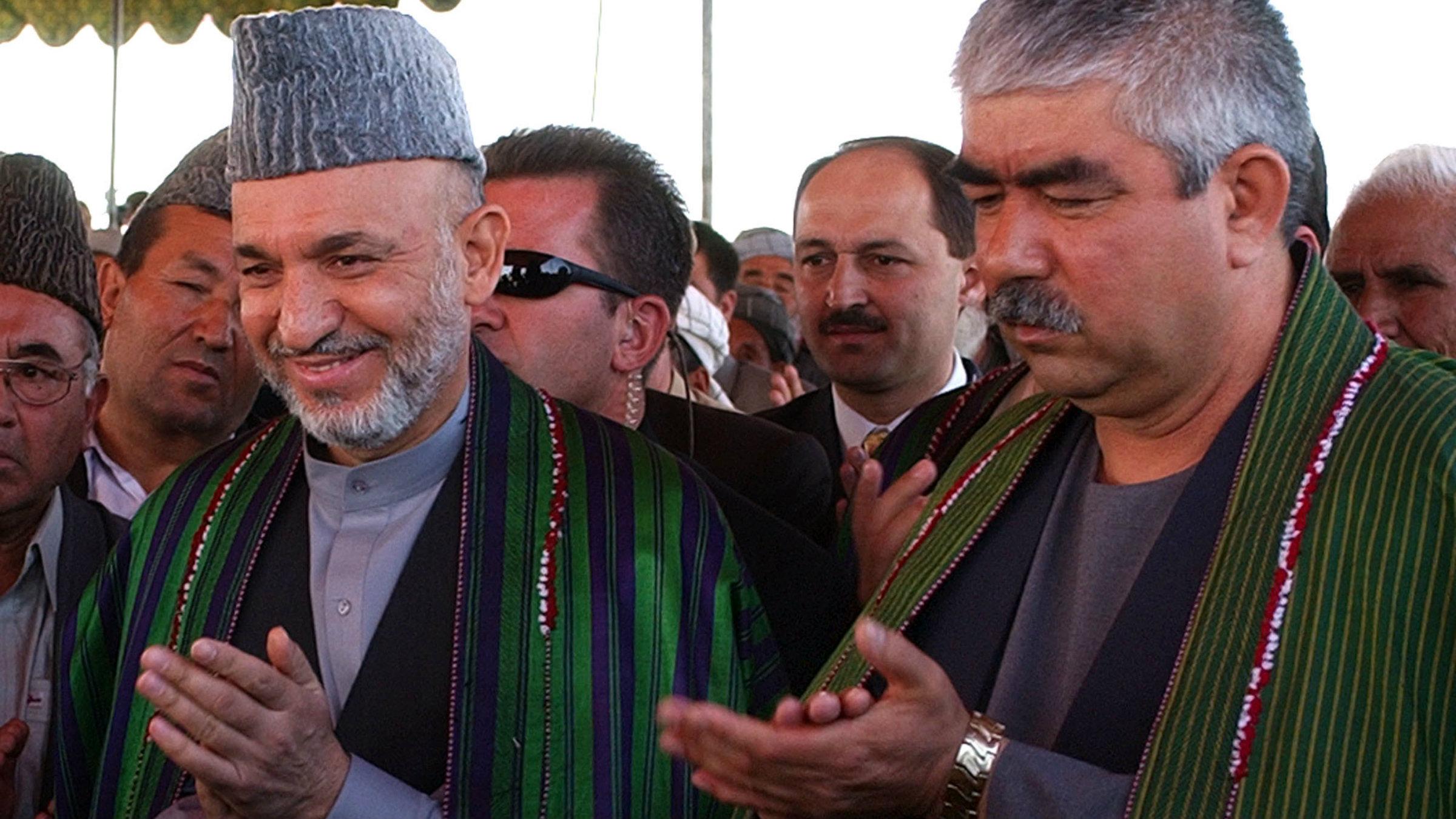 Abdul Rashid Dostum and Hamid Karzai, Afghanistan
