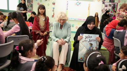 Duchess of Cornwall visits classroom in Qatar