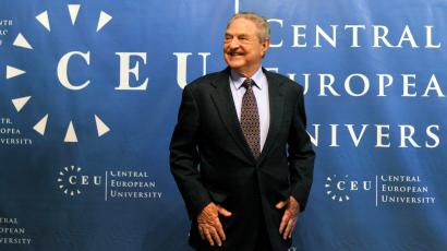 Hungarian born US billionaire and investor George Soros is seen ahead of the start of his five-day-long lecture at the Central European University (CEU) in Budapest, Hungary, Monday, Oct. 26, 2009.