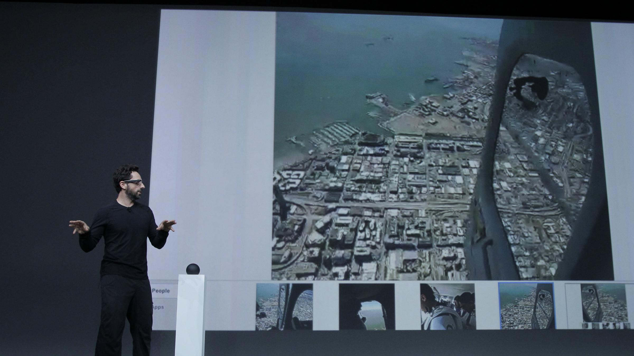 Google Glass display