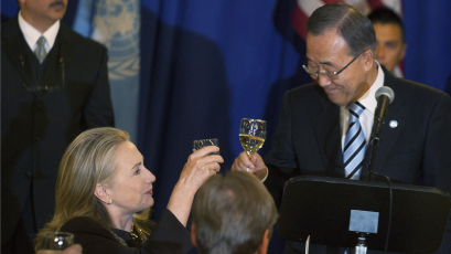 HIlary Clinton and Ban Ki Moon