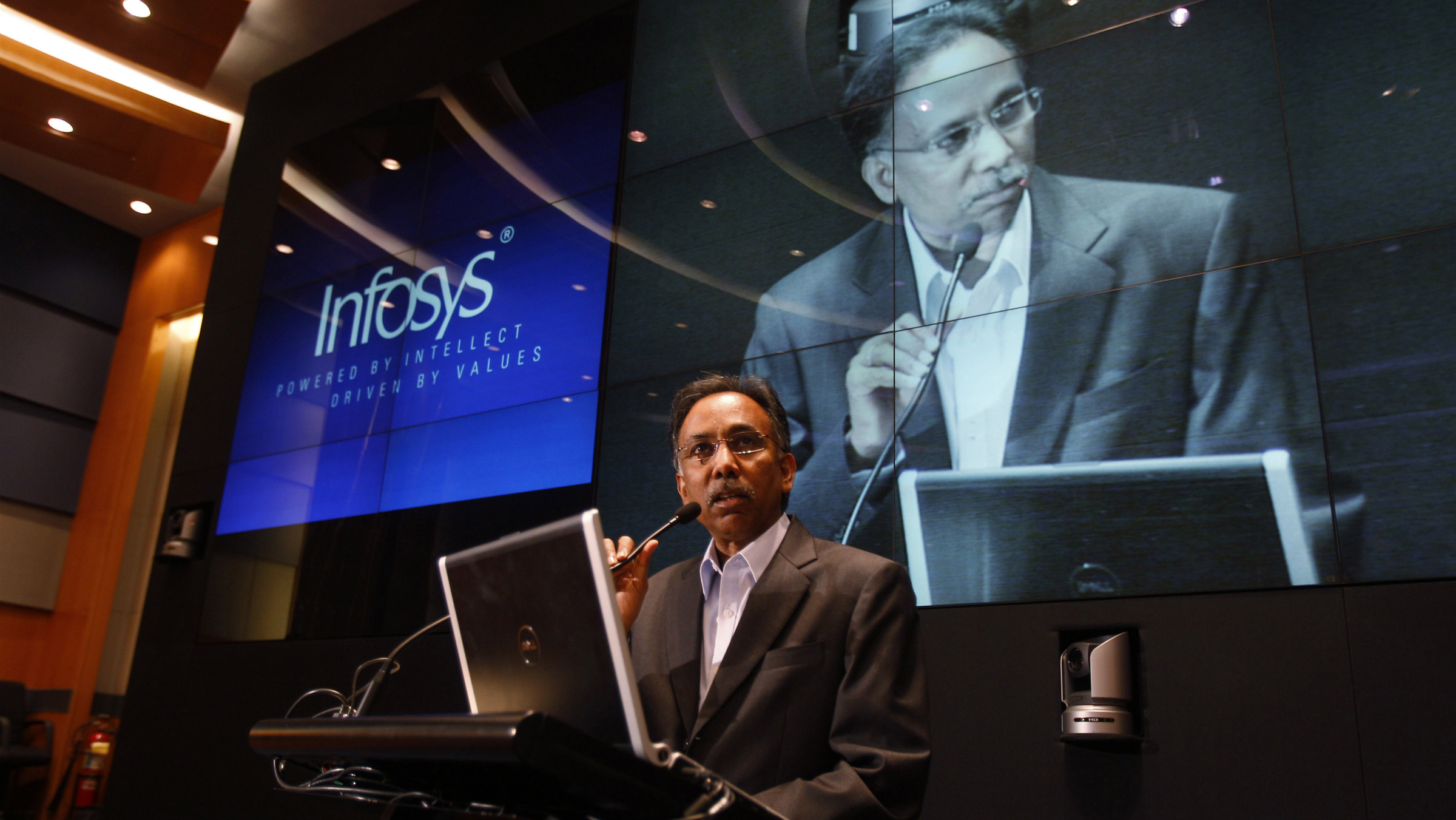 S.D. Shibulal, chief executive at Infosys, has had a rough day.