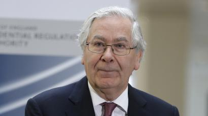Mervyn King, the Governor of the Bank of England talks to employees of the Prudential Regulation Authority (PRA), during the opening in central London, Tuesday, April 2, 2013. The PRA, as part of the Bank of England, will become the UK's prudential regulator for banks, building societies, credit unions, insurers and major investment firms, as part of a wider reform of the UK regulatory framework, which also sees the creation of a Financial Policy Committee within the Bank, and a new conduct regulator, the Financial Conduct Authority. (AP Photo/Lefteris Pitarakis, Pool