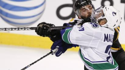 A part of the reason South Asians are embracing ice hockey: Manny Malhotra of the Vancouver Canucks.