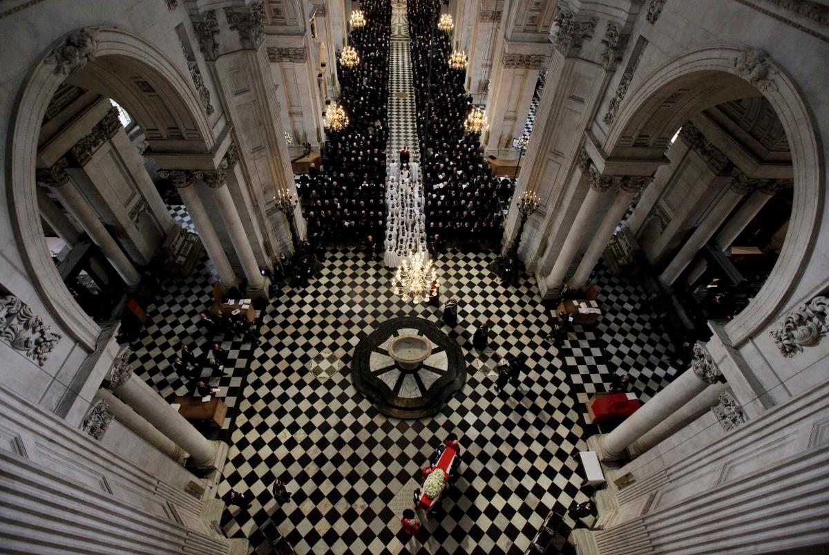 Margaret Thatcher's funeral service