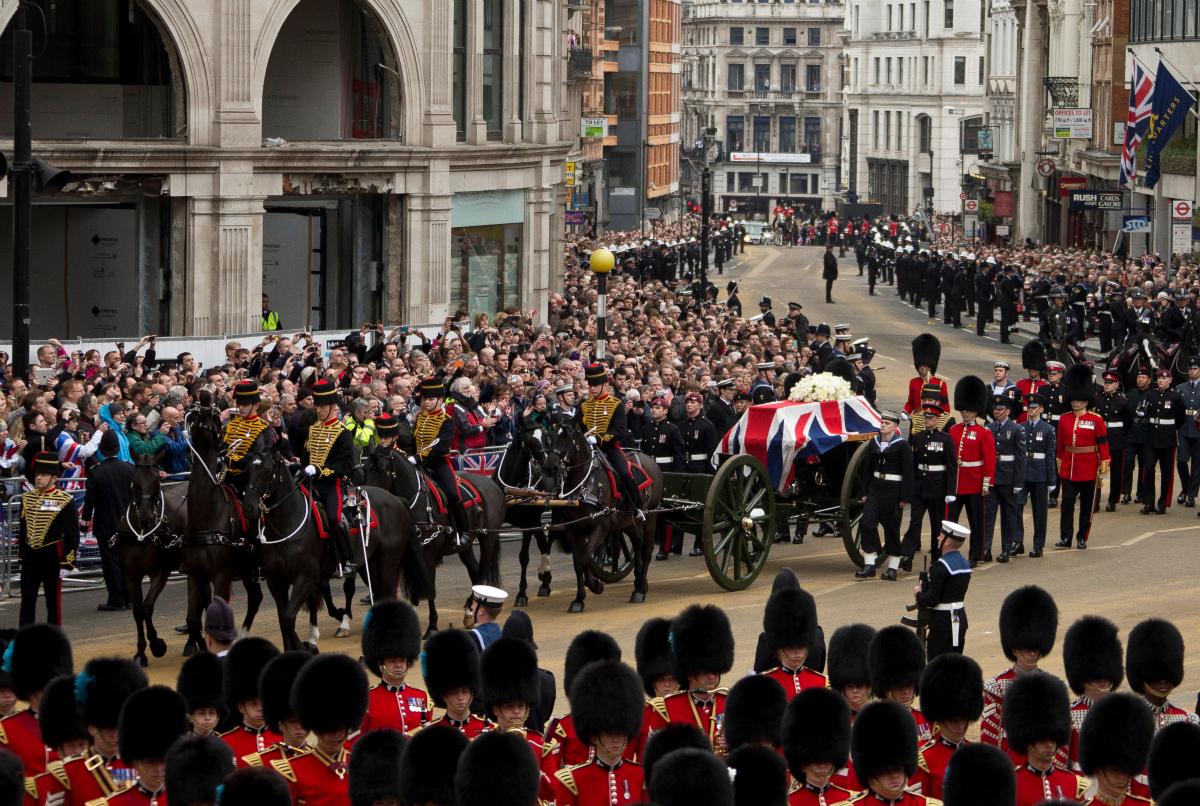 Margaret Thatcher's funeral ceremony