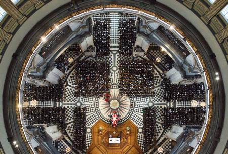 Margaret Thatcher's funeral from above
